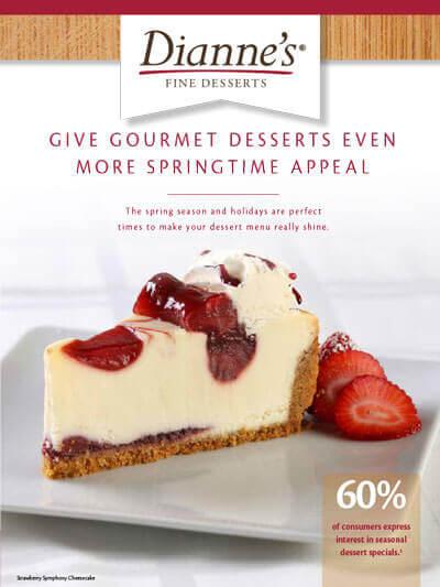 gourmet dessert provider to food service industry