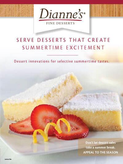 dianne's summer merchandise gourmet specialty dessert provider