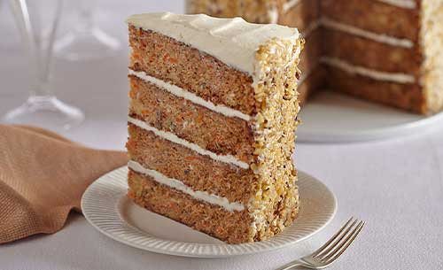 gourmet carrot cake dessert provider to food service industry