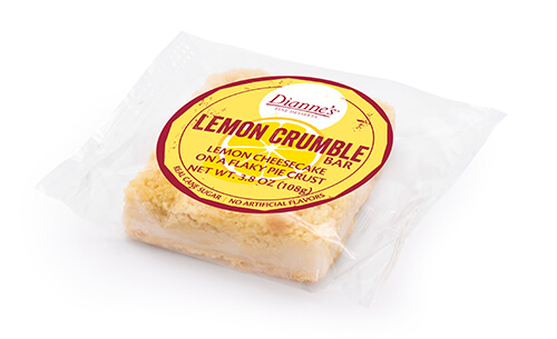 lemon crumble bar individually wrapped - dessert provider to food service industry