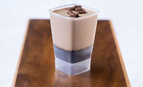 gourmet chocolate shooter dessert provider to food service industry