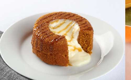 gourmet pumpkin molten lava dessert provider to food service industry