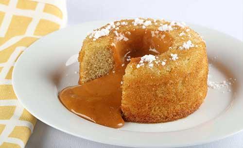 gourmet caramel molten lava dessert provider to food service industry